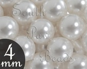White pearl beads by Swarovski elements 4mm Round beads Style 5810 (25)