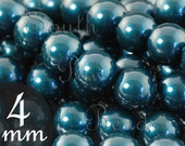 Petrol 4mm swarovski pearls CLOSE OUT (24)