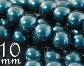 Petrol Swarovski crystal pearl beads style 5810 10mm round beads CLOSE OUT (10)