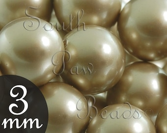3mm Platinum pearls by Swarovski, Style 5810 CLOSE OUT (50)