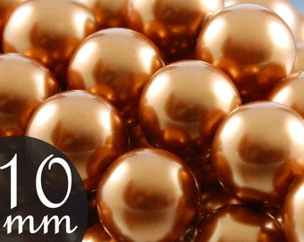 Close Out Copper pearl beads by Swarovski Elements, 10mm Style 5810 (80)