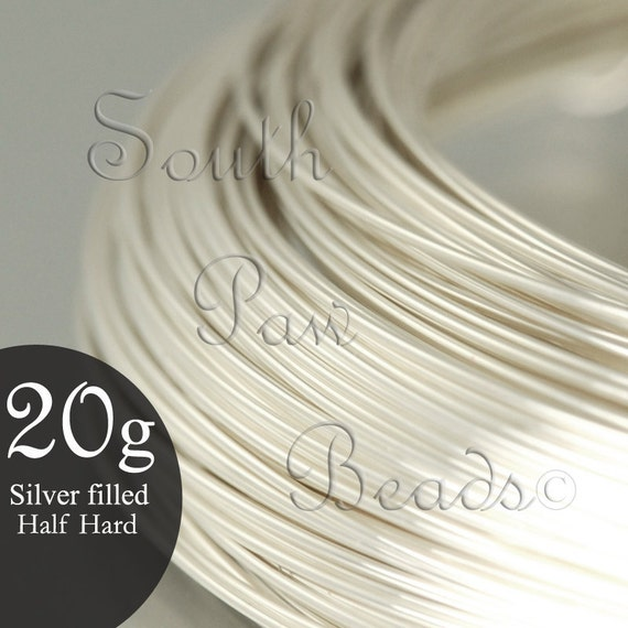 Limited Time ON SALE NOW Silver Filled Wire Round Half Hard 20 gauge, 1 troy oz (approximately 21.5 ft) 1/10 sterling