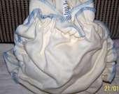 Wool diaper covers size 2 - blue stitching