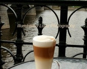 SALE Latte in Prague - Signed 5 x 7 Fine Art Photograph, Czech Republic featured in Budget Travel by IlluminatedLuna on Etsy