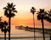 SALE San Clemente Pier - Signed 8 x 10 Fine Art Photograph Print, California by IlluminatedLuna on Etsy