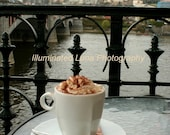 SALE Hot Cocoa in Prague, Overlooking the Castle - Signed 5 x 7 Fine Art Photograph by IlluminatedLuna on Etsy