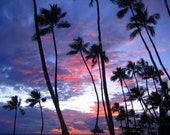 SALE Sunset over Waikiki - Signed 5 x 7 Fine Art Photograph, Oahu, Hawaii by IlluminatedLuna on Etsy