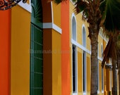 SALE Calle de la Naranja - Signed 8 x 12 Fine Art Travel Photograph, Old San Juan, Puerto Rico, Caribbean, Orange, by IlluminatedLuna