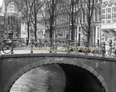 SALE Amsterdam Canal Scene - Signed 8 x 10 Fine Art Travel Photograph, Holland, Netherlands, Europe Wall Art