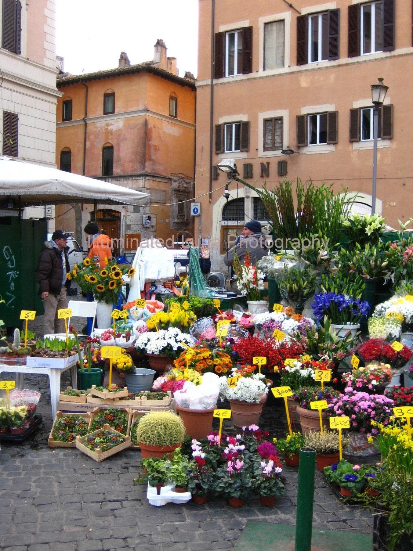 SALE Italian Flower Market II Signed 5 x 7 by illuminatedluna