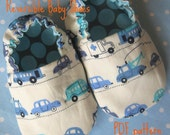 Reversible Baby Shoes, PDF pattern