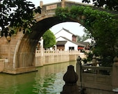 Bridge Over River, China, 8 x 10 Photo Art Print