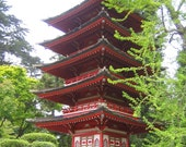 GOING EAST - 8 x 10 Japanese Pagoda Fine Art Photo Print, FREE Matting
