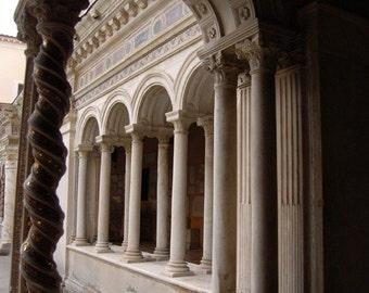 Church Courtyard, Rome, 8 x 10 Photo Fine Art Print, FREE MATING