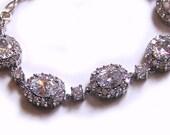 Weddings, Jewelry, Bracelet, Bridal Bracelet, Cubic Zirconia Bracelet: Patty Bracelet