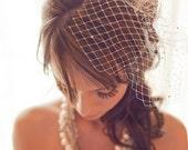 Birdcage Veil, Wedding Veil, Bridal Veil, Ivory Birdcage Veil