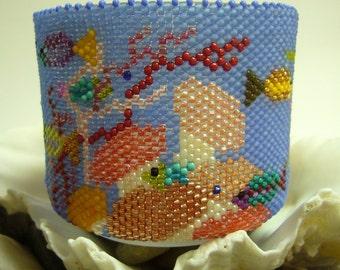 Handmade Beadwork, Lifestyle - Under the Sea 1 Tealight Holder