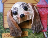 Mixed Breed (Whimsical) Magnet  OOAK