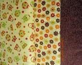 Owl and Swirl - Timeless Treasures Fabric -  1 yard set of 3