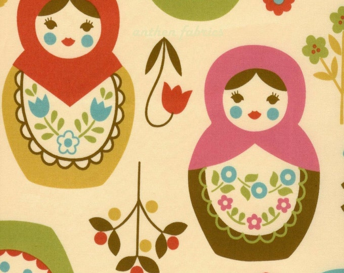 Large Matryoshka (K20A01) - Japanese Cotton Fabric - select length