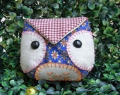 Owl Coin Purse - Blue color