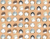 Children's Room Fabric - Peep Hole Portraits  - Fabric Fat Quarter
