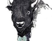 Buffalo Art - The Dreamcatcher Art Print