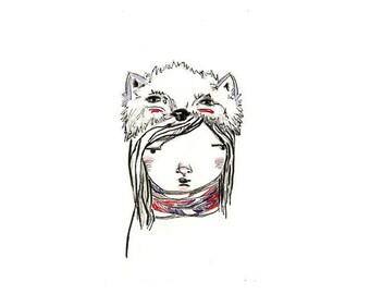 My Animal Hat (3) - Art Print