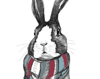 Rabbit Art - Rabbits Love Scarves