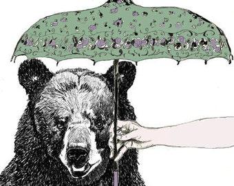 April Bear - Bear Art Print