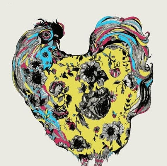Chickens Love Tattoos  - Chicken Art Print