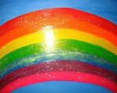 Glitter Rainbow original painting