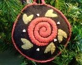 Old World Style Rosette Ornament