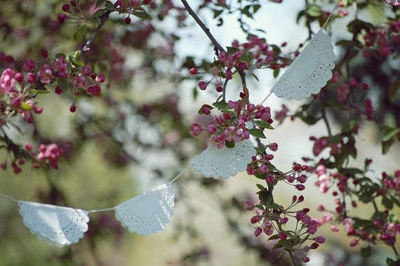 White Doily Garland
