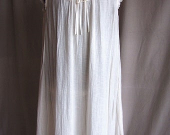 Shabby Chic Chemise, funky raw edges, soft flowing cotton gauze