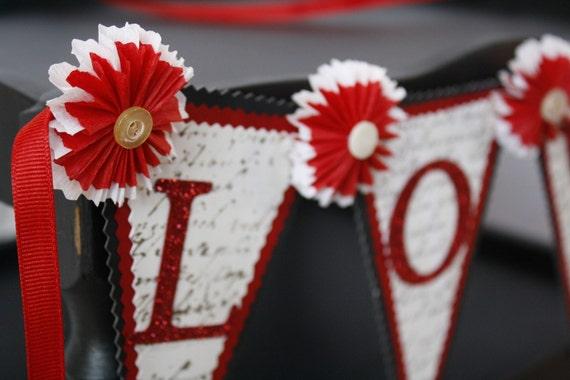 LOVE Valentine banner garland