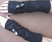 crystal power fingerless gloves