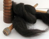 Ecru/Undyed/Natural Brown Jacob wool roving (combed top), spinning fiber - 4 ounces