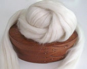 Ecru/Undyed/Natural Mohair, Wool, and Nylon Blend wool roving, spinning fiber - 4.0 ounces