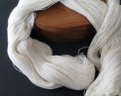Ecru Merino / Silk lace yarn, super luxurious, perfect for lace shawls - 4 ounces, 1125 yards