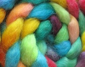 Wensleydale Wool Roving (Top) - Handpainted Spinning or Felting Fiber, Moriarty - 4 ounces