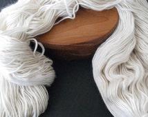 Merino / Silk single ply yarn, super luxurious - heavy DK or worsted - 4 ounces, 250 yards