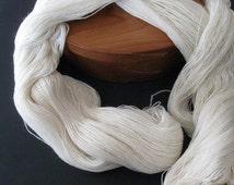 Ecru Merino / Silk lace yarn, super luxurious, perfect for lace shawls - 4 ounces, 1125 yards
