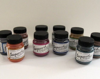 Acid Dyes, Jacquard (Kit of Ten .5oz jars for protein fibers and most nylons - just use vinegar and heat)