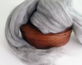 Ecru/Undyed/Natural Yak, Silk, and Merino wool Blend wool roving, spinning fiber - 4 ounces