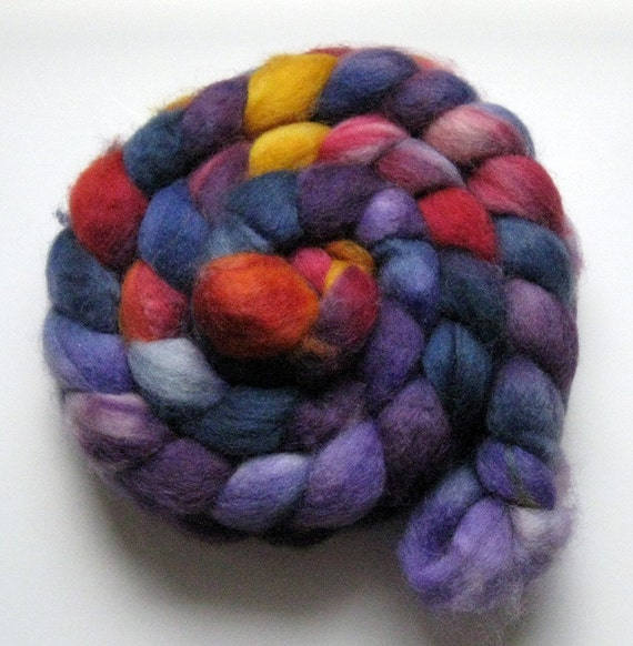 SUPERWASH BFL ROVING - Anotonia Colorway - 4.5 ounces