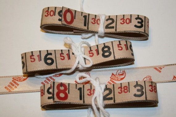 3 FT Vintage Grungy Measuring Tape with Adhesive Backing