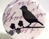 BUY 3 GET THE 4TH FREE - Silhouette Bird Pocket Mirror - Tan