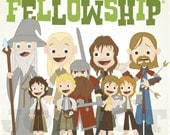 The Fellowship - 12.5 X 12.5 PRINT