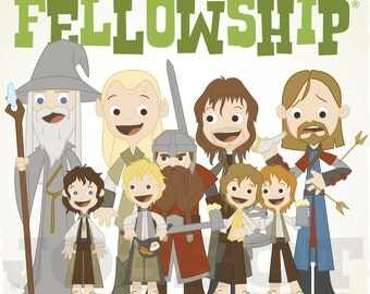 The Fellowship - 12.5 X 12.5 PRINT
